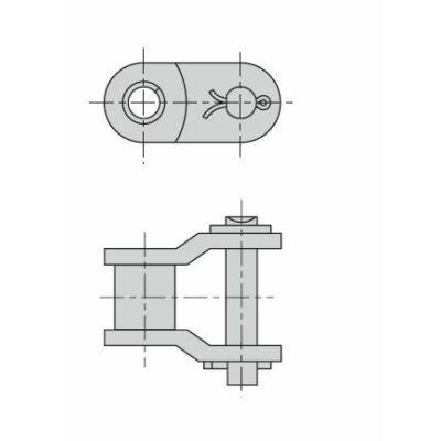 Haljított összekötő görgős lánchoz 10A-1-50H Donghua