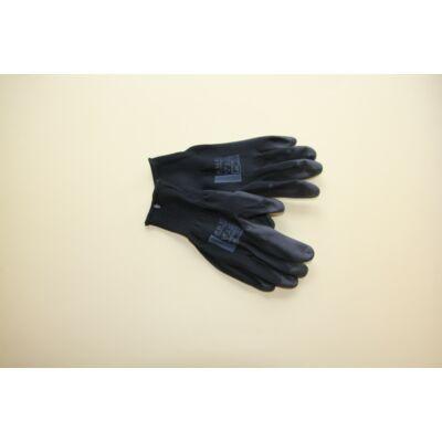 A9061-es BUCK Fekete mártott poliuretán védőkesztyű méret: 10