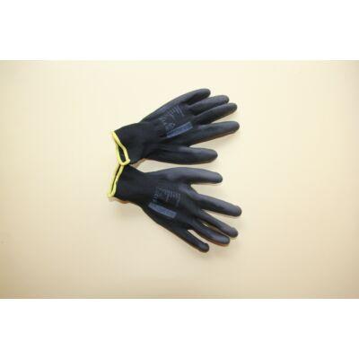 A9061-es BUCK Fekete mártott poliuretán védőkesztyű méret: 8
