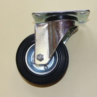 Tömörgumis kerék forgó villával 100-as átmérőben