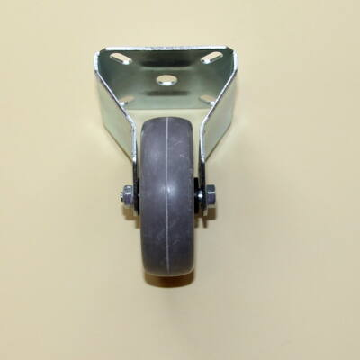 Tömör szürke gumis kerék fix villával, 50-es átmérőben